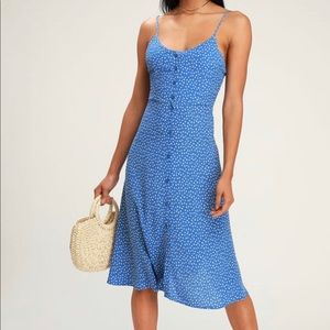 Stunning Lulus Midsummer Floral Print Midi Dress S